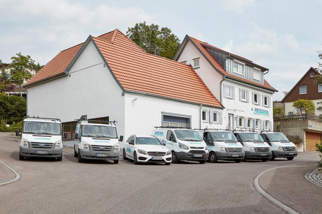Proschka Firmengebäude und Fuhrpark